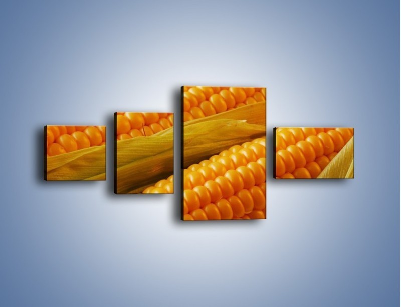 Obraz na płótnie – Kolby dojrzałych kukurydz – czteroczęściowy JN046W5