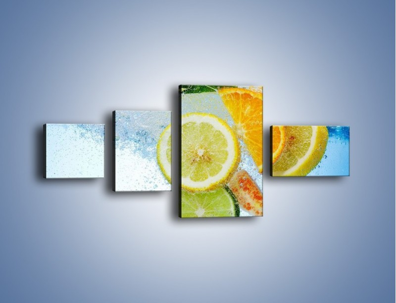 Obraz na płótnie – Zatopione plastry owoców – czteroczęściowy JN057W5