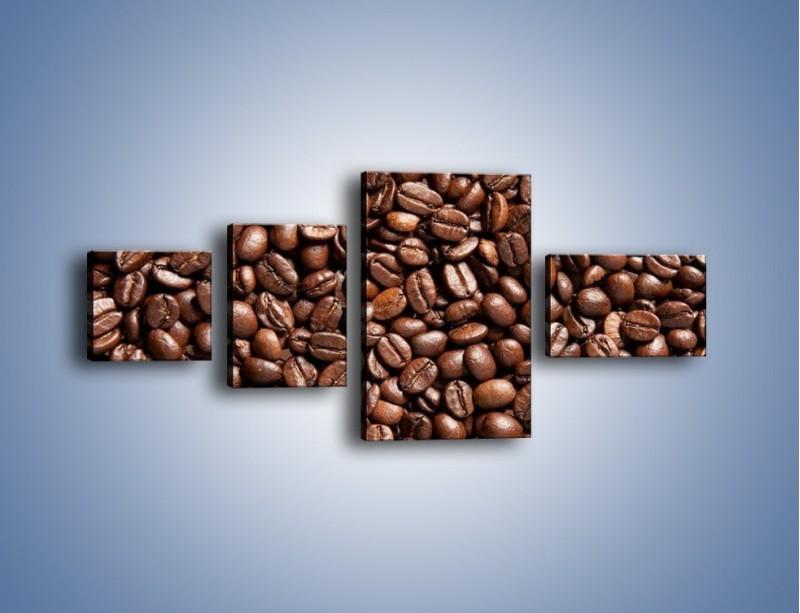 Obraz na płótnie – Ziarna świeżej kawy – czteroczęściowy JN061W5