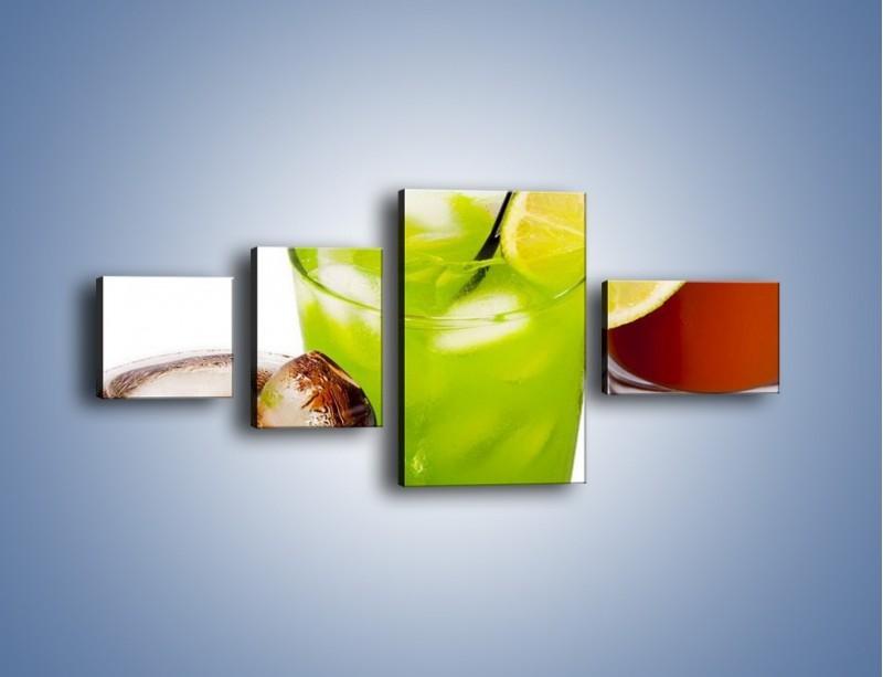 Obraz na płótnie – Kwaśno-słodkie drinki – czteroczęściowy JN093W5