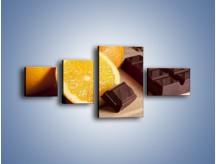 Obraz na płótnie – Czekoladowo-pomarańczowa rozkosz – czteroczęściowy JN094W5