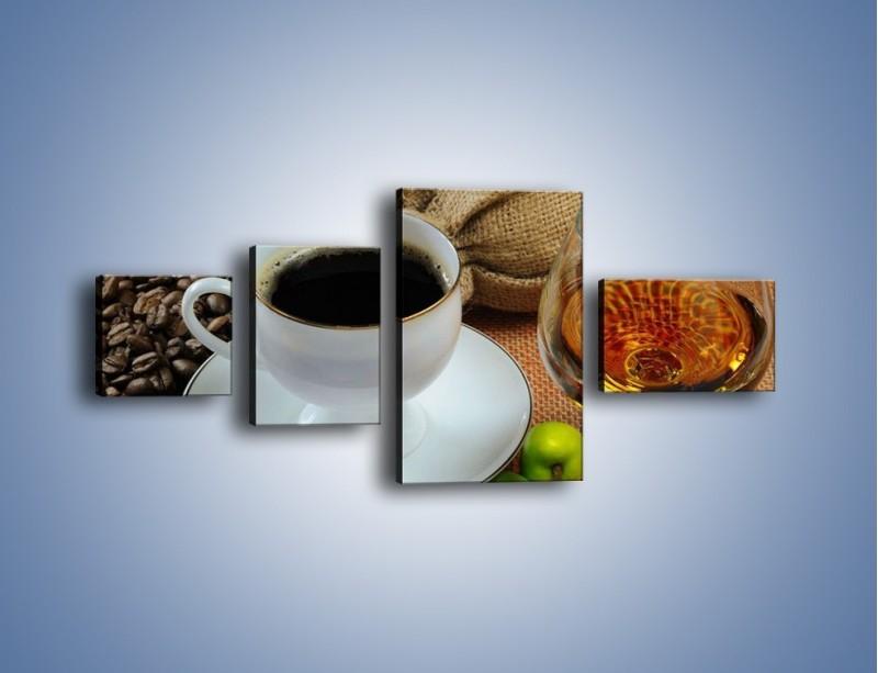 Obraz na płótnie – Wieczorowa kawa z prądem – czteroczęściowy JN166W5