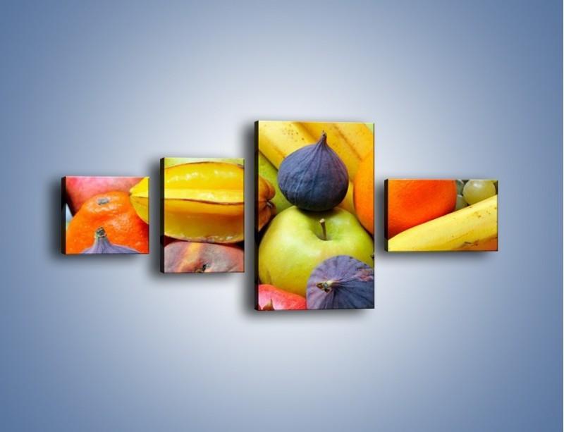 Obraz na płótnie – Owocowe kolorowe witaminki – czteroczęściowy JN173W5