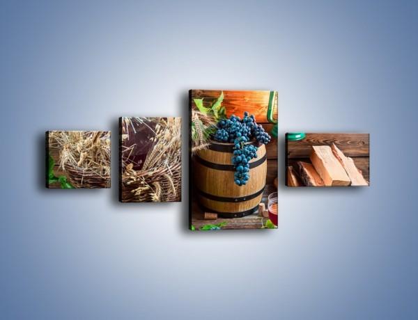 Obraz na płótnie – Wino według własnego przepisu – czteroczęściowy JN202W5