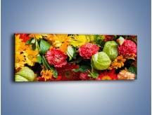 Obraz na płótnie – Bukiet pełen soczystych kolorów – jednoczęściowy panoramiczny K461