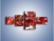 Obraz na płótnie – Czereśnia rządzi w kuchni – czteroczęściowy JN223W5