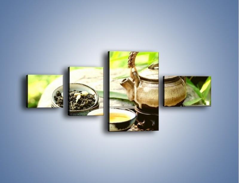 Obraz na płótnie – Herbata na świeżym powietrzu – czteroczęściowy JN249W5