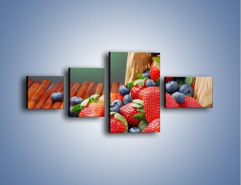 Obraz na płótnie – Truskawkowo-jagodowy obłęd – czteroczęściowy JN251W5