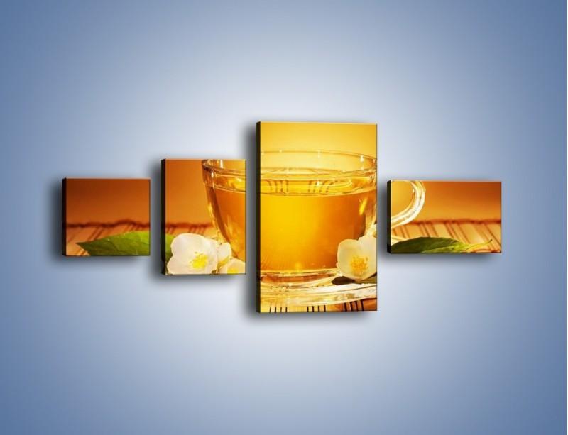 Obraz na płótnie – Delikatny smak herbaty – czteroczęściowy JN261W5