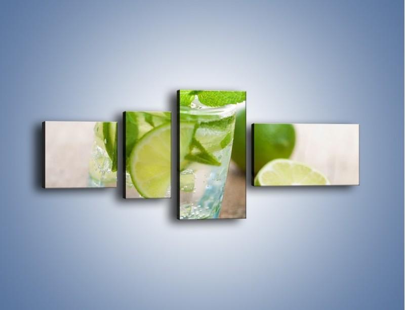 Obraz na płótnie – Limonkowy napój – czteroczęściowy JN262W5