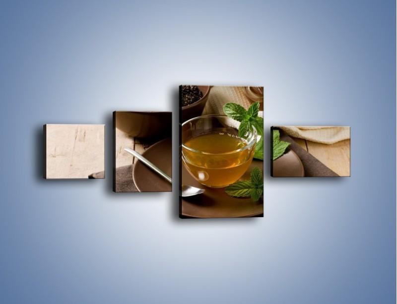 Obraz na płótnie – Filiżanka herbaty na poprawę humoru – czteroczęściowy JN264W5
