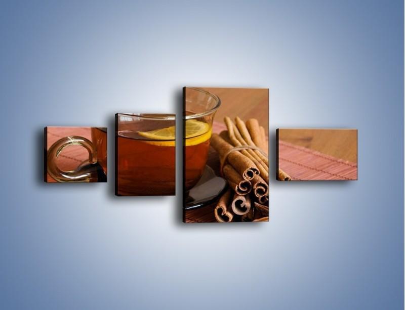 Obraz na płótnie – Rozgrzewająca filiżanka herbaty – czteroczęściowy JN266W5