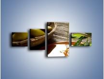Obraz na płótnie – Bogactwa wydobyte z oliwek – czteroczęściowy JN270W5