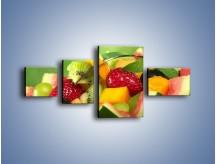 Obraz na płótnie – Arbuzowa misa z owocami – czteroczęściowy JN274W5