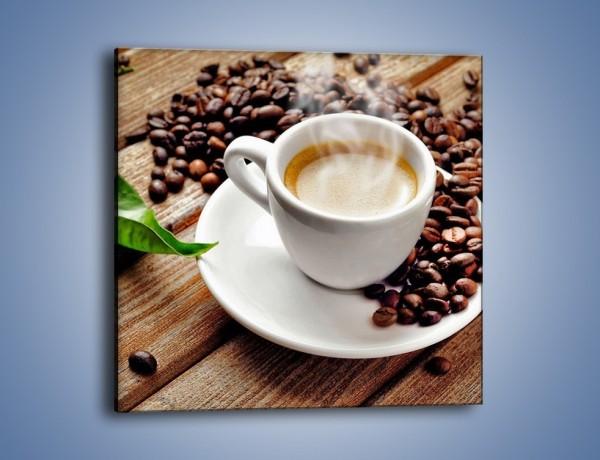 Obraz na płótnie – Letni błysk w filiżance kawy – jednoczęściowy kwadratowy JN470