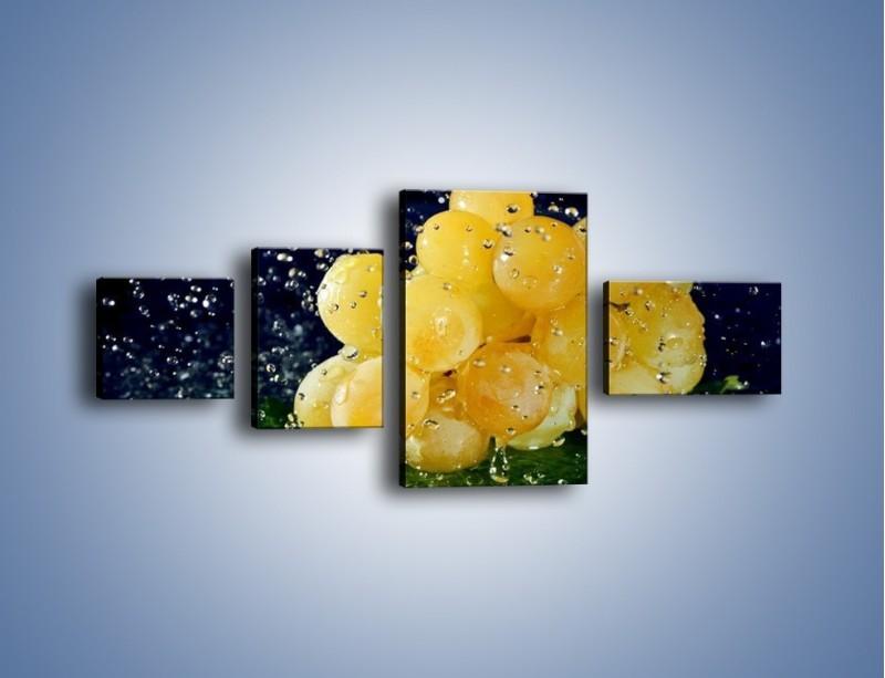 Obraz na płótnie – Słodkie winogrona z miętą – czteroczęściowy JN286W5