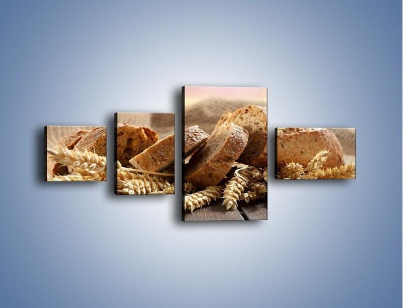 Obraz na płótnie – Świeży pszenny chleb – czteroczęściowy JN287W5