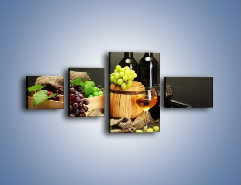 Obraz na płótnie – Wytrawne smaki wina – czteroczęściowy JN289W5