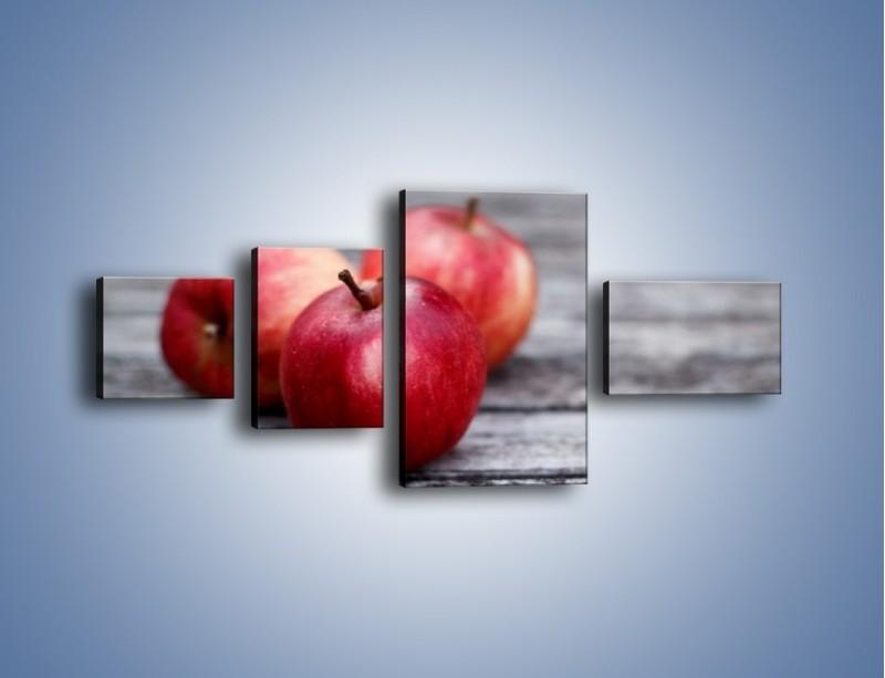 Obraz na płótnie – Jabłkowe zdrowie – czteroczęściowy JN296W5