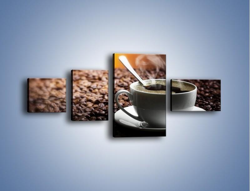 Obraz na płótnie – Aromatyczna filiżanka kawy – czteroczęściowy JN298W5