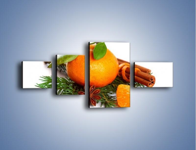 Obraz na płótnie – Pomarańcza na święta – czteroczęściowy JN306W5