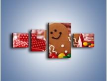 Obraz na płótnie – Ciasteczkowy ulubieniec dzieci – czteroczęściowy JN308W5
