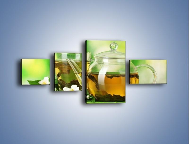 Obraz na płótnie – Herbaciane ukojenie – czteroczęściowy JN316W5