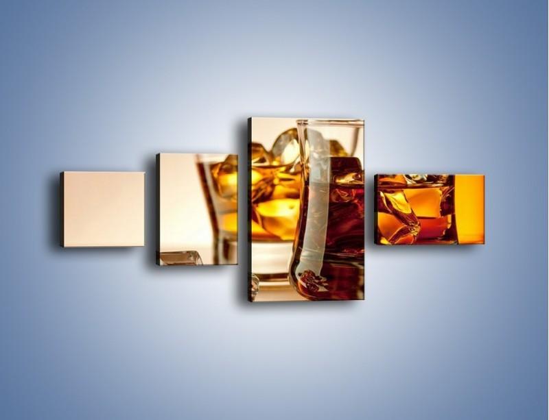 Obraz na płótnie – Męskie rozmowy przy whisky – czteroczęściowy JN318W5