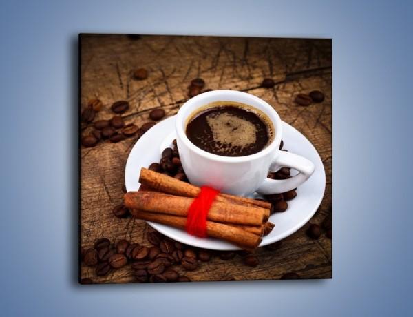 Obraz na płótnie – Kawa z małą niewiadomą – jednoczęściowy kwadratowy JN471