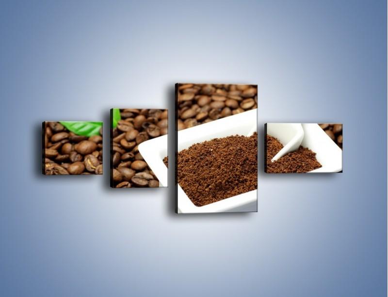 Obraz na płótnie – Zmielona kawa – czteroczęściowy JN340W5
