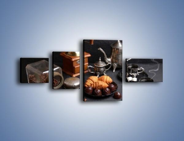Obraz na płótnie – Popołudnie przy kawie – czteroczęściowy JN341W5