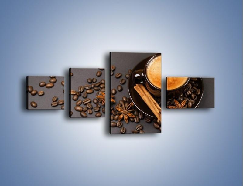 Obraz na płótnie – Kawa z goździkiem – czteroczęściowy JN349W5