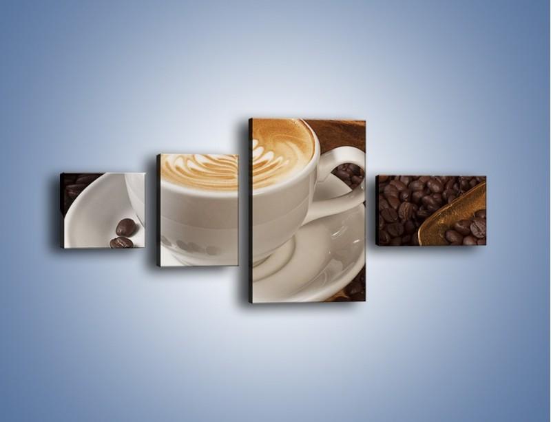 Obraz na płótnie – Czas na kawę – czteroczęściowy JN353W5