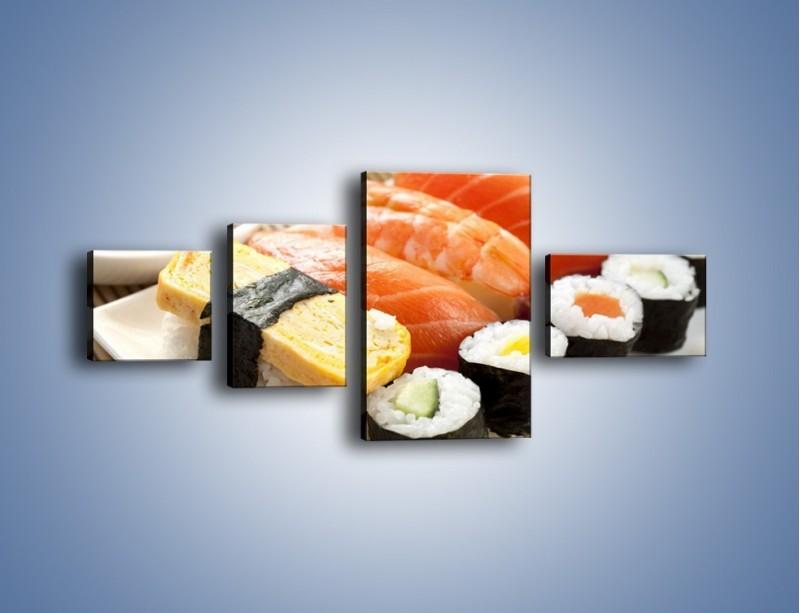 Obraz na płótnie – Azjatyckie posiłki – czteroczęściowy JN355W5