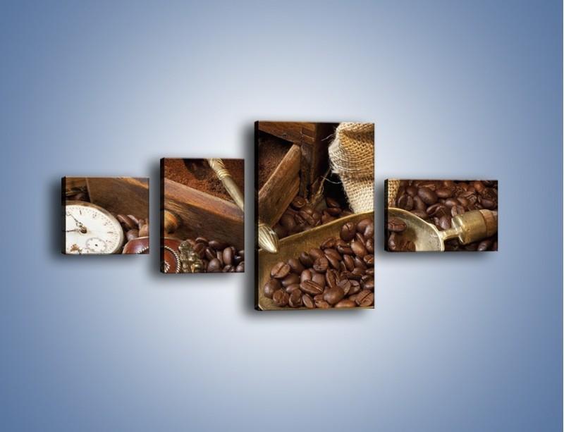 Obraz na płótnie – Szuflada pełna kawy – czteroczęściowy JN356W5
