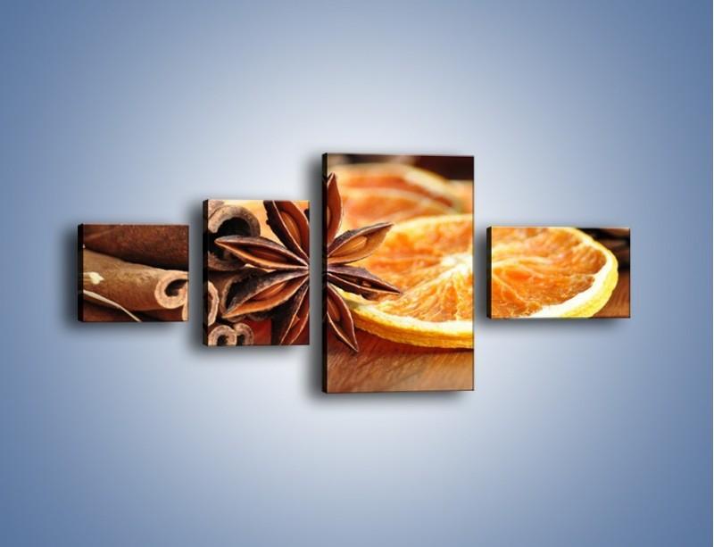 Obraz na płótnie – Pomarańcza z dodatkami – czteroczęściowy JN357W5
