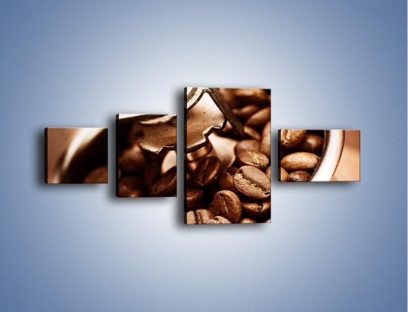Obraz na płótnie – Kawa w młynku – czteroczęściowy JN361W5