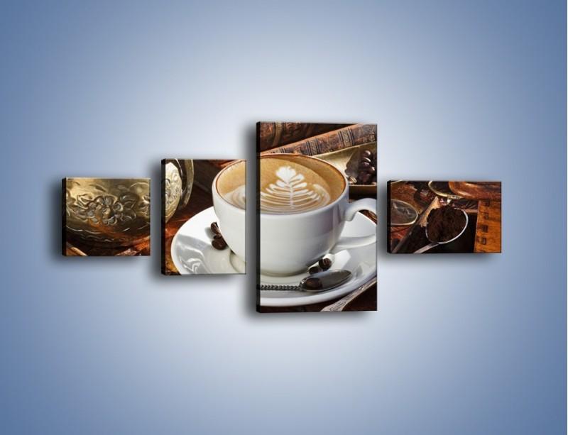 Obraz na płótnie – Wspomnienie przy kawie – czteroczęściowy JN377W5