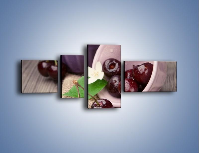 Obraz na płótnie – Wiśnie w małych pucharkach – czteroczęściowy JN399W5