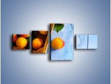 Obraz na płótnie – Brzoskwinie w drewnianej skrzyni – czteroczęściowy JN404W5