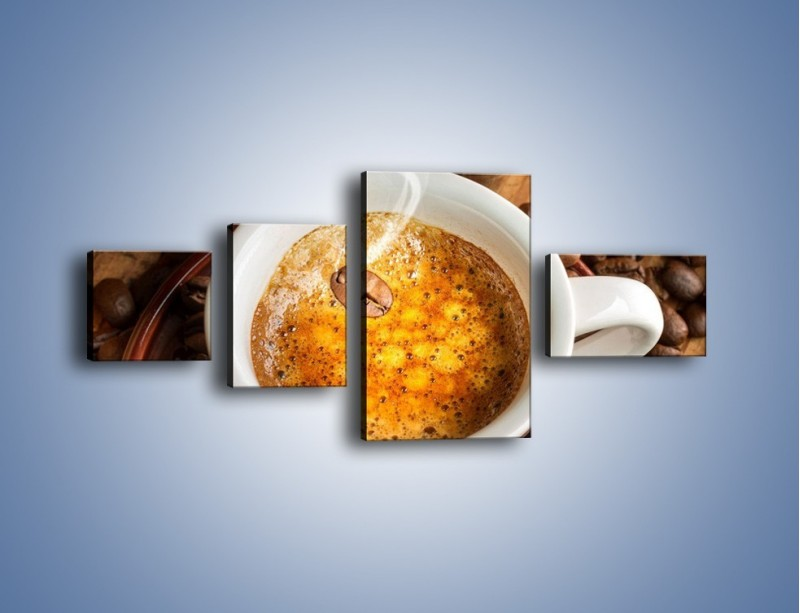 Obraz na płótnie – Ziarna zatopione w kawie – czteroczęściowy JN416W5