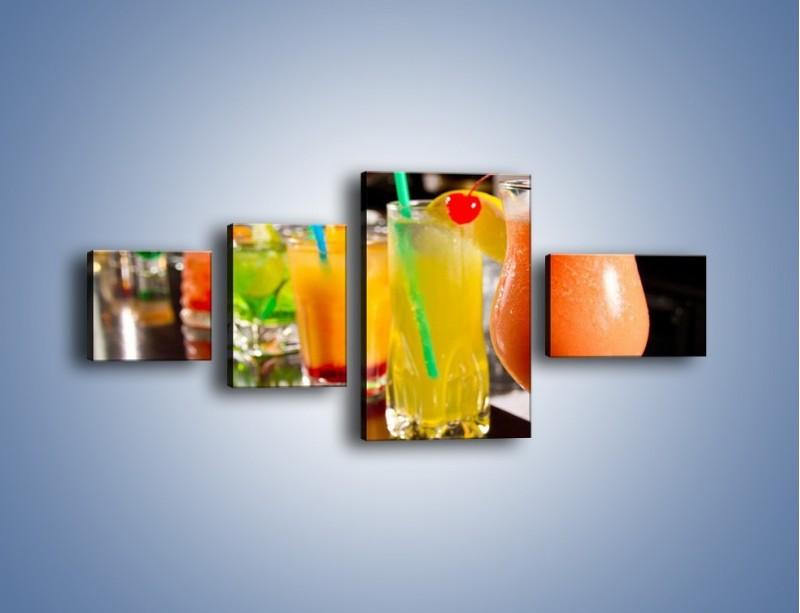 Obraz na płótnie – Barmańskie drinki – czteroczęściowy JN433W5