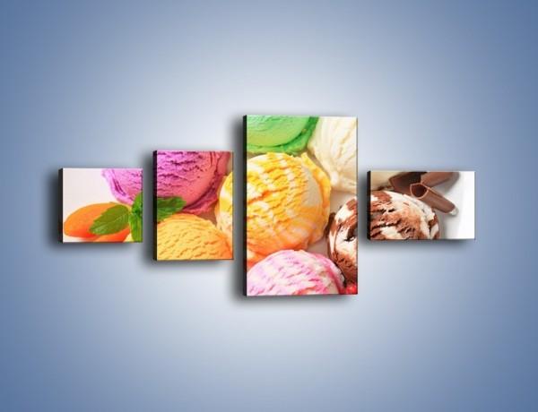 Obraz na płótnie – Lody we wszystkich kolorach lata – czteroczęściowy JN443W5