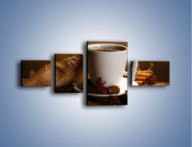Obraz na płótnie – Gorąca czekolada z dodatkami – czteroczęściowy JN452W5