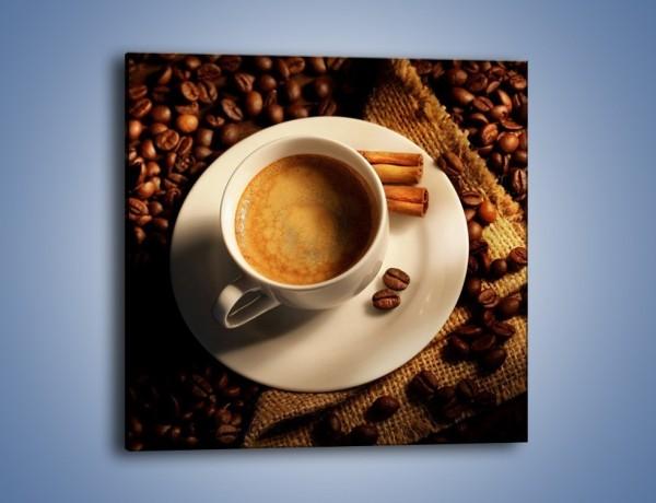 Obraz na płótnie – Tajemnicza historia z odrobiną kawy – jednoczęściowy kwadratowy JN475