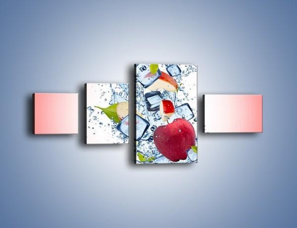Obraz na płótnie – Jabłkowe trio w powietrzu – czteroczęściowy JN500W5