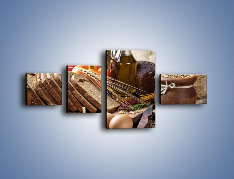 Obraz na płótnie – Chleb w roli głównej – czteroczęściowy JN501W5
