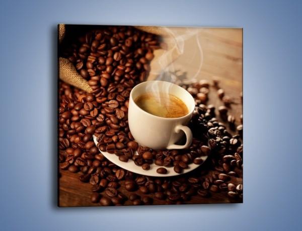 Obraz na płótnie – Zatopione ziarna kawy – jednoczęściowy kwadratowy JN477