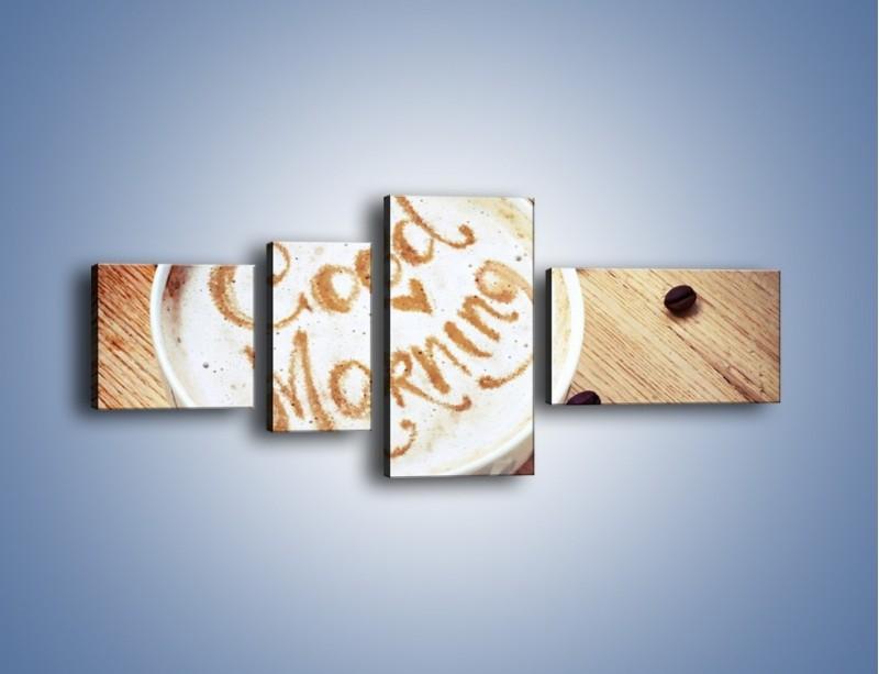 Obraz na płótnie – Kawa z bezą – czteroczęściowy JN605W5