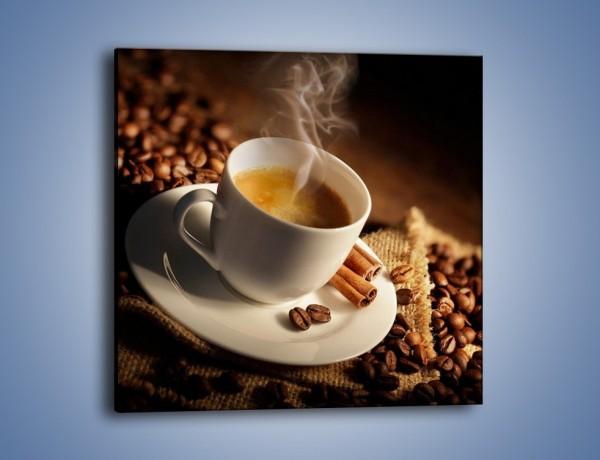 Obraz na płótnie – Historia dwóch ziarenek kawy – jednoczęściowy kwadratowy JN479